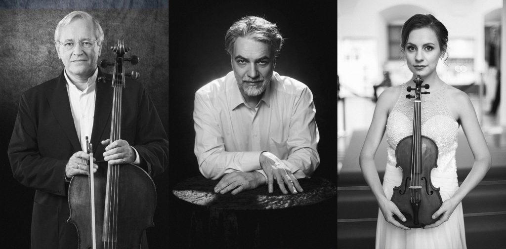 Grand Trio atlieka Brahmsą: Davidas Geringas (violončelė), Petras Geniušas (fortepijonas), Dalia Kuznecovaitė (smuikas)